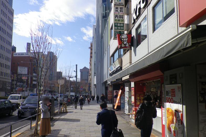 渋谷・表参道サロンへの行き方2 右手に「ケンタッキーフライドチキン」がございます