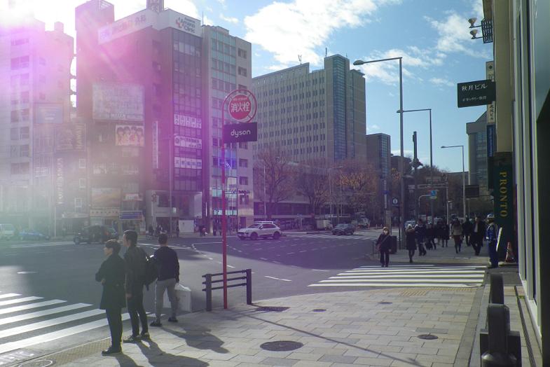 渋谷・表参道サロンへの行き方3 右手に「PRONT」が見えてきます