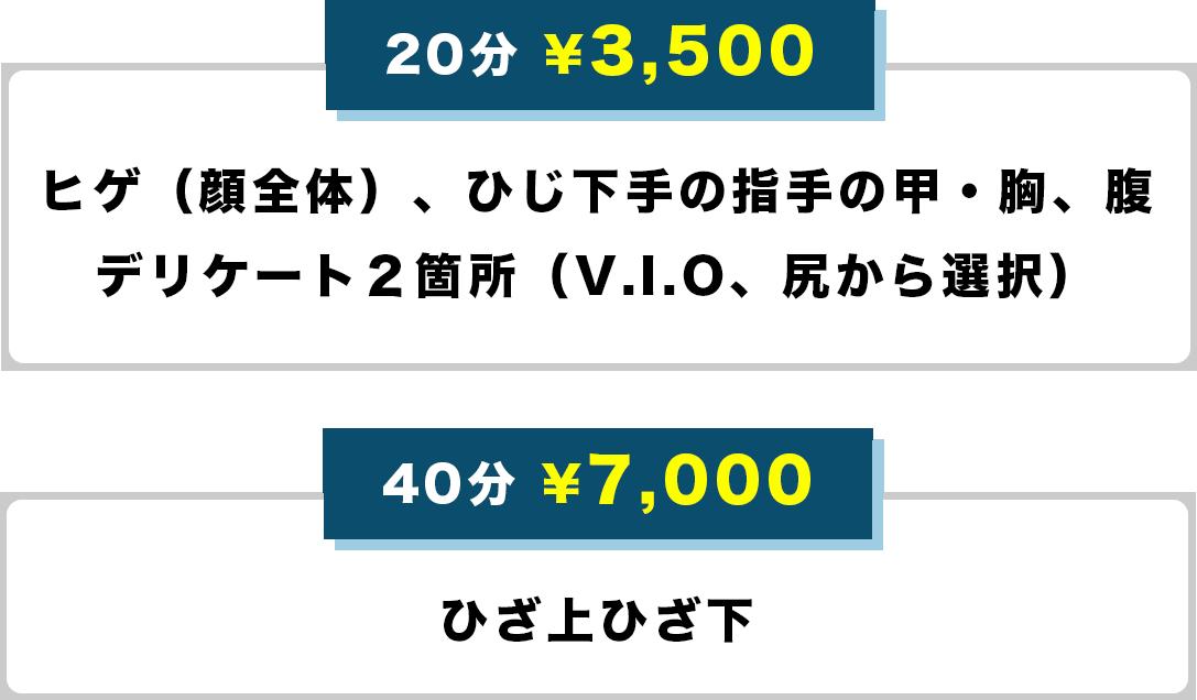 20分 3500円